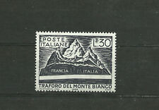 Italy 1965 Inauguration of the tunnel of Mont Blanc  MNH  italia