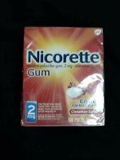 Nicorette Cinnamon Surge Nicotine Gum 2mg 100PC's Exp September 2021