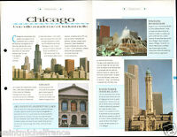Chicago The Loop Lincoln Parc Aquarium Shedd Planetarium Adler USA FICHE FRANCE
