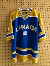 Rare Team Canada Hockey Jersey Alternate Blue And Gold Youth Large Sewn On 4cab7647be4