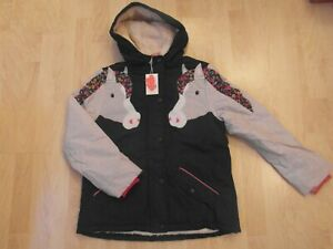 BNWT MINI BODEN HORSE ANORAK COAT JACKET AGE 9-10 YEARS