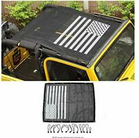 Eclipse Full Cover Sun Shade for Jeep Wrangler TJ 1997-2006 Rugged Ridge US Flag