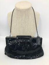 THE LIMITED Black Mesh Handbag purse clutch