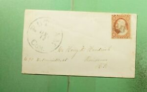 DR WHO 1850S PUTNAM CT FANCY CANCEL TO PROVIDENCE RI  g41415