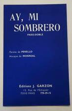 Partition sheet music Accordéon - Ay, Mi Sombrero J. Garzon Paso-Doble
