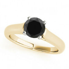 2 Ct AAA Black Diamond Solitaire Anniversary Ring Trendy Best Price 14k Gold
