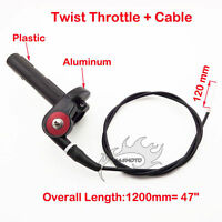 1/4 Turn Twist Throttle With Cable For CRF XR 50 70 SSR TTR KLX110 Dirt Pit Bike