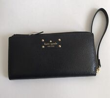 NWT Kate Spade BLACK Wellesley Layton Wristlet Wallet WLRU1779