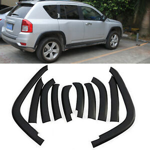 10Pcs/Set Front& Rear Wheels Fender Flares Cover for Jeep Compass 2011-2018