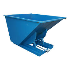 Blue Two (2) Yard Self-Dumping Forklift Trash Hopper Dumpster-2yd Tipping Dumper