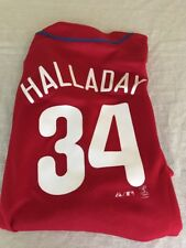 Youth Roy Halladay #34 Philadelphia Phillies Majestic Red Jersey LARGE 14/16