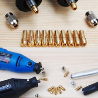 10X Brass Collet Bit Drill Chuck Set 0.5-3.2mm for Dremel Rotary Tools 4.8mm UK
