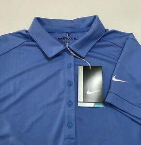 $65 NWT Nike Golf Women's Victory Solid Polo Shirt Blue L Large