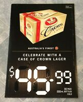Crown Lager Beer Gift Case Advertising Corflute Double Sided Display Sign