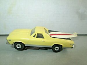 Vintage Aurora Thunderjet El Camino Yellow w/TJET Chassis HO Slot Car