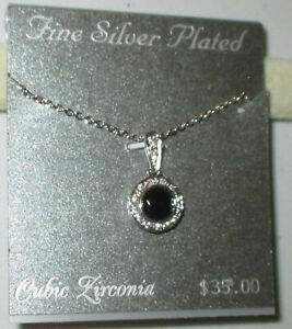 Fine Silver Plated Necklace Marcasite Crystals CZs - NWT - 21 Styles Avail