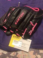 "Easton ZFXFP1200 12"" Z-Flex Youth Fastpitch Softball Glove Black / Pink RH"