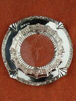 Art Deco Sterling Silver Hallmarked & Cut Glass Dish , 1937 Elkington & Co Ltd