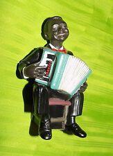 All That Jazz  Parastone Enesco Black Americana playing accordion Figurine