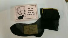 VINTAGE 1950's Gag Gift For The Woman Who Has Everything Black Stocking Purse