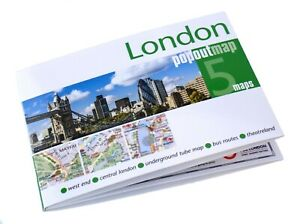 Popout pocket map of London