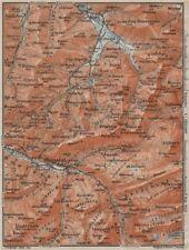 Muotathal Pragel & Sihltal. Silbern liedernen (kaiserstock) IBERG 1913 OLD MAP