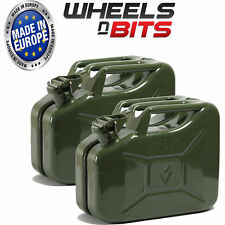 2 x 10L Litre GREEN JERRY MILITARY CAN FUEL OIL WATER PETROL DIESEL RED GREEN