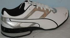 MEN'S PUMA TAZON 6 ATHLETIC SNEAKERS WHITE/SILVER/BLACK RUNNING SHOES SIZE 7
