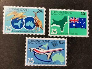 Christmas Island 1983 25 years As An Australian Territory set MUH AGj40