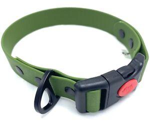 Einsatzhalsband, Biothane, oliv-grün, 25 mm breit