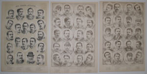 1888 OUR LEADING FOOTBALL PLAYERS CRICKETERS ATHLETES SPORTSMEN SMALL PORTRAITS