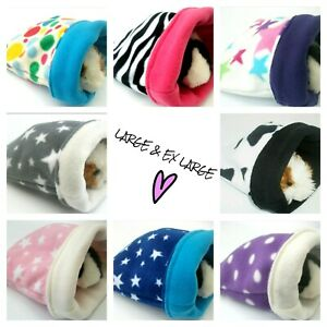 *40 DESIGNS*LARGE*EX LARGE*FLEECE SNUGGLE GUINEA PIG  BED POUCH BAG CUDDLE COSY