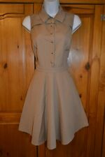 Claudie Pierlot hermosas Marrón Camisa Vestido-Talla 40/UK 8/Usado Una Vez