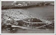 New Brighton, Merseyside - view from Tower, fairground pier -RP postcard c.1920s