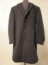 CHAPS COAT WOOL BLEND BUTTON FRONT BLACK MEN'S SIZE 40 REGULAR VERY NICE