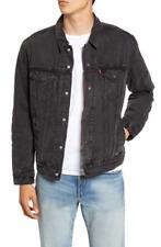 Levi's Mens Denim Flannel Lined Trucker Jacket Zion Black 0004