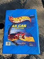 HotWheels 48 Car Carry Case 2001 Mattel Tara Toy With 48 Mixed Diecast Cars
