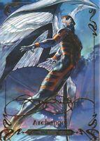 2018 Marvel Masterpieces Gold Foil Signature Series #50 Archangel Tier 2