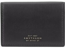 SMYTHSON Connaught Calf Leather Wallet Card Case Black
