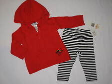 NWT GUESS 2pc set long sleeve hoodie sweater GIRL size 18M red