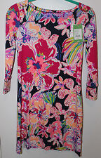 NWT Lilly Pulitzer Sophie UPF 50+ Dress Floral Bright Navy Sz XS X Small