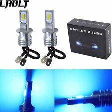 Pair H3 LED Fog Lights Conversion Bulbs Kit 35W 4000LM 8000K Ice Blue Error Free