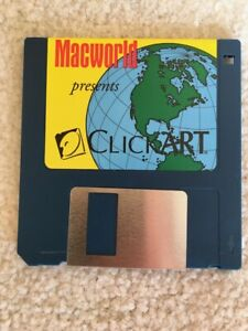 MACWORLD MAGAZINE CLICK ART SOFTWARE - EPS FILES AND PICT FILES - EARLY 1990s