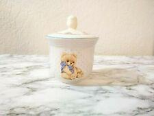 Tienshan Stoneware Country Bear Pattern Sugar Bowl with Lid