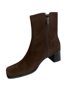 Ladies Ankle Boots NEW CORELLI Size41 Size9 Brown Leather Women Boots Block Heel
