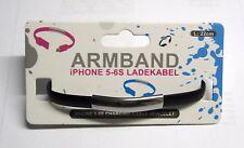 iPhone 5 - 6s Ladekabel Armband in schwarz 22cm