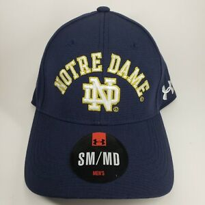 Under Armour Notre Dame Fighting Irish Flex Fitted Hat Cap Men's size SM/MD  NWT