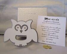 BOMBONIERE - APRIBOTTIGLIE GUFO IN METALLO CON STRASS NEGO' MADE IN ITALY + BOX