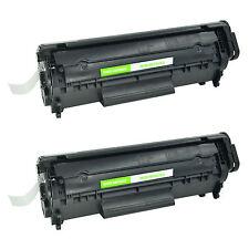 2 Pack Q2612A 12A Balck Toner Cartridge For HP LaserJet 1018 1010 3020 Printer