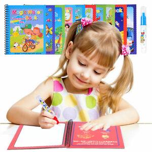 Mess Free Painting Magic Water Books Reusable Colouring Books Art Magic Pen B16